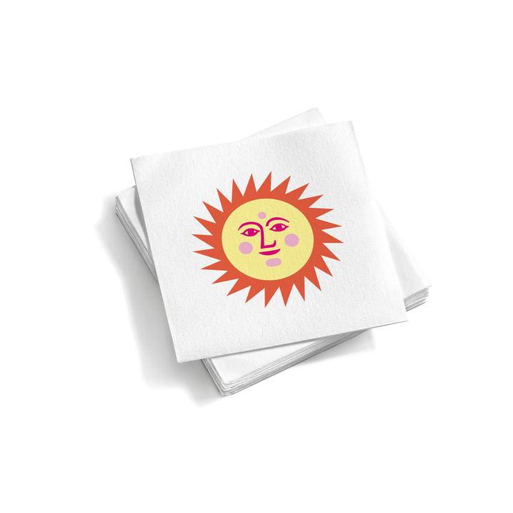 Vitra – Papirservietter små, La Fonda Sun, lysegul/orange