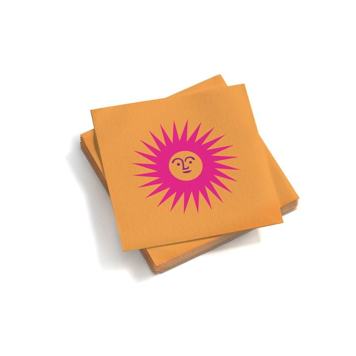 Vitra – Papirservietter små, La Fonda Sun, pink/orange