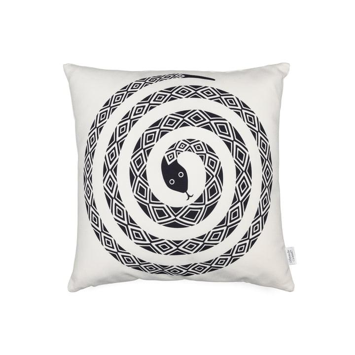 Vitra – Graphic Print pude – Snake, 40 x 40cm, sort