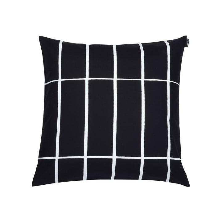 Marimekko – Tiiliskivi pudebetræk, 50 x 50 cm, sort/hvid