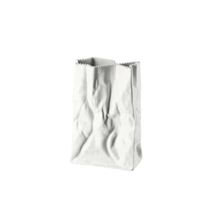 Rosenthal – Paper Bag vase, 18 cm, hvidglaseret
