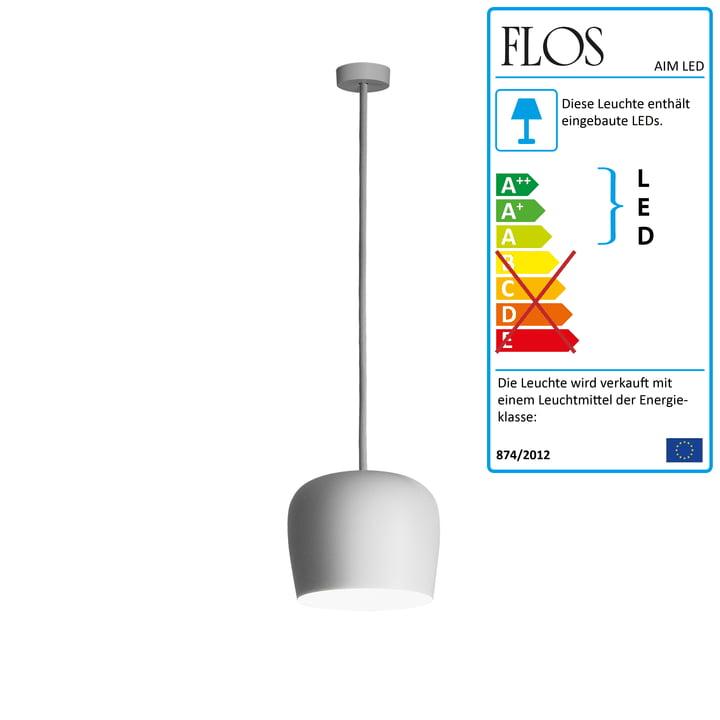 Flos - AIM Lille LED pendellampe Fix, hvid