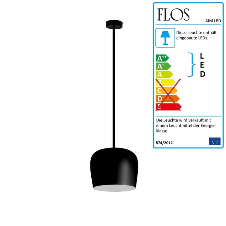 Flos – AIM lille LED-pendel fix, sort