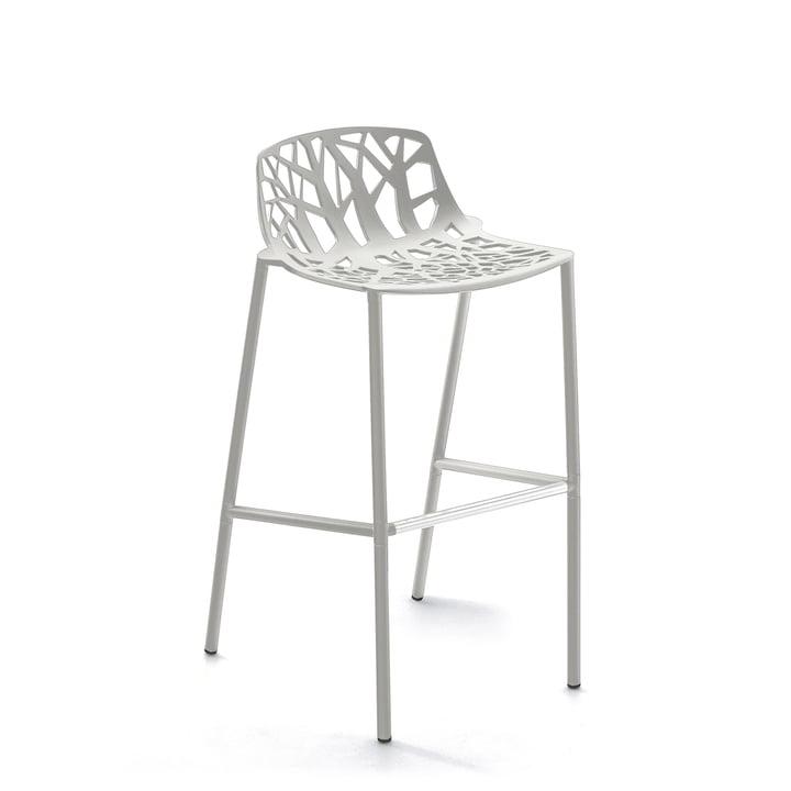 Fast – Forest barstol, høj, med lavt ryglæn, hvid