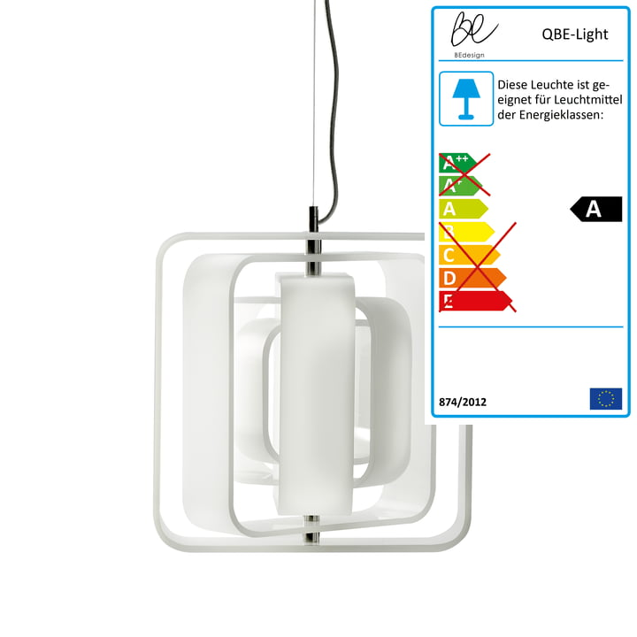 BeDesign – QBE Light pendel/loftslampe, mat hvid
