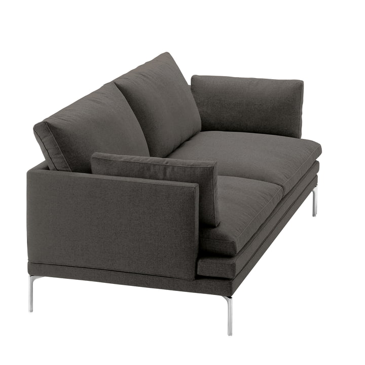 Zanotta – William sofa, 180 cm, Vasco 20, mørkegrå (25805)