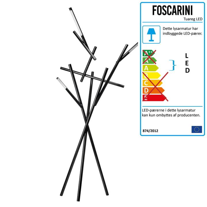 Foscarini – Tuareg gulvlampe i sort