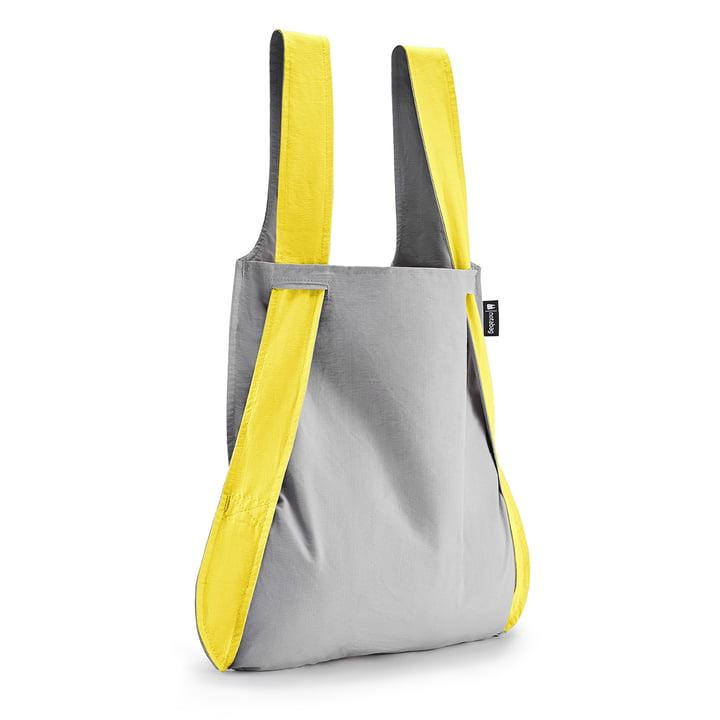 Notabag – taske og rygsæk, gul/grå