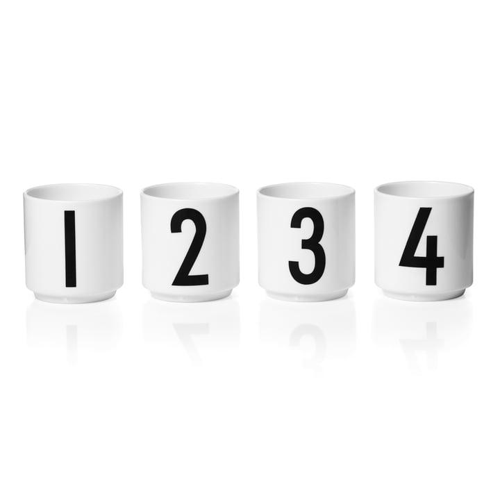 Design breve - mini-krus af porcelæn (sæt med 4)