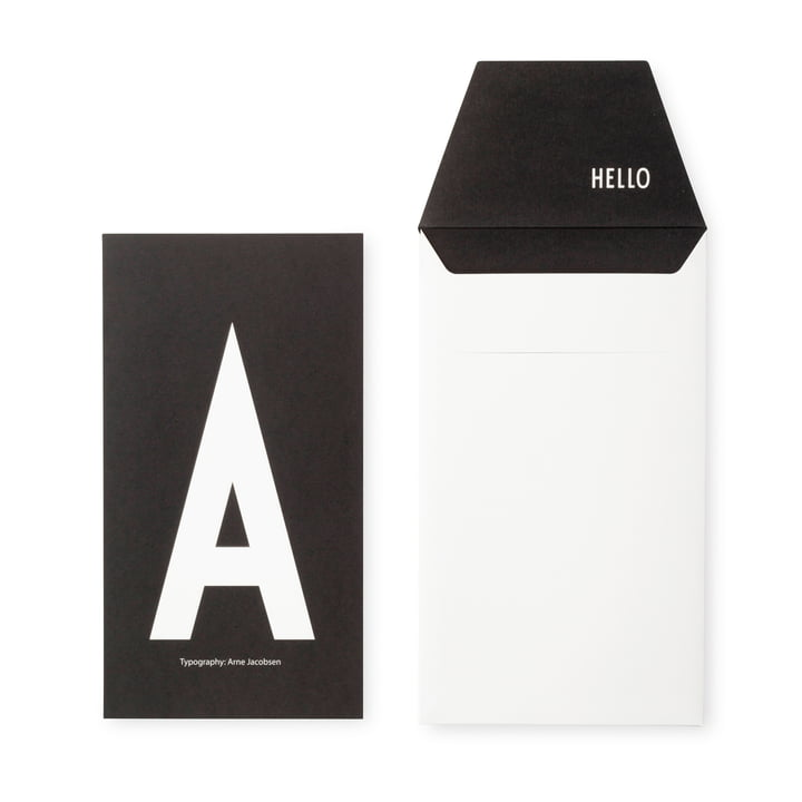 Design Letters – AJ postkort, A