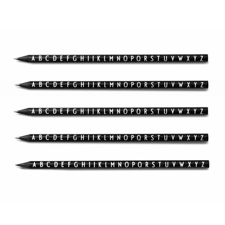 Design Letters – AJ blyanter, sort (sæt med 5)