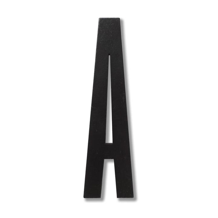 Træbogstaver, A, fra Design Letters i sort