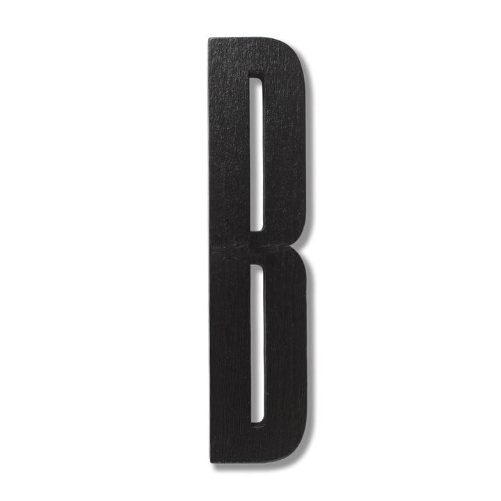 Træbogstaver, B, fra Design Letters i sort