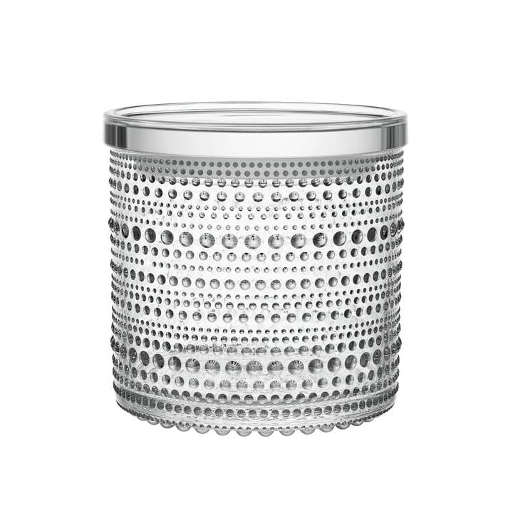 Kastehelmi opbevaringsglas på 116 x 114 mm fra Iittala i klart glas