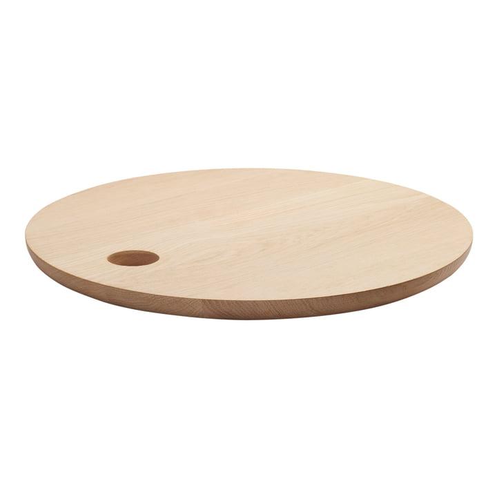 e15 – AC07 Cut skærebræt Ø 45 cm i ubehandlet eg