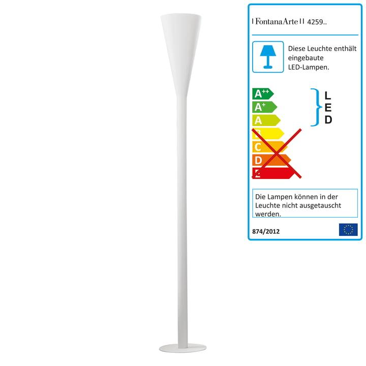 FontanaArte – Riluminator LED-gulvlampe i hvid