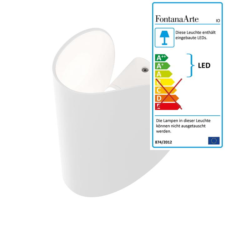 FontanaArte – IO væglampe i hvid