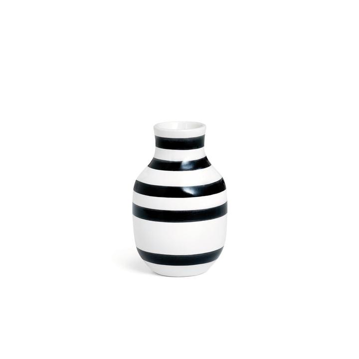 Omaggio vase H 125 af Kähler Design i sort og hvid