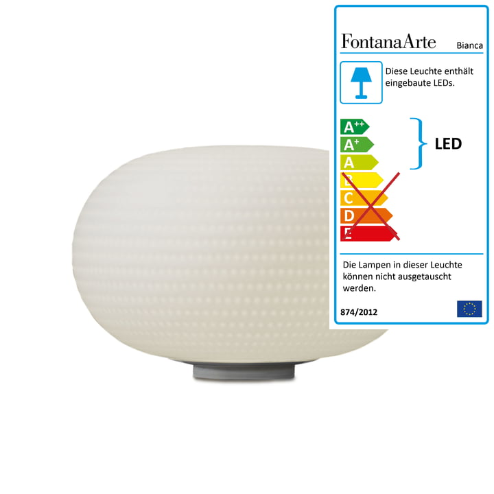 Bianca bordlampe fra FontanaArte i hvid