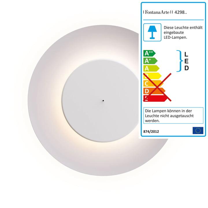 Lunaire LED-væglampe fra FontanaArte i hvid