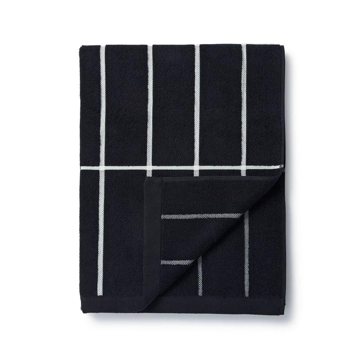 Marimekko – Tiiliskivi badehåndklæde, 75 x 150 cm i sort/hvid