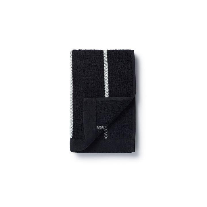Marimekko - Tiiliskivi håndklæde 30 x 50 cm i sort / hvid