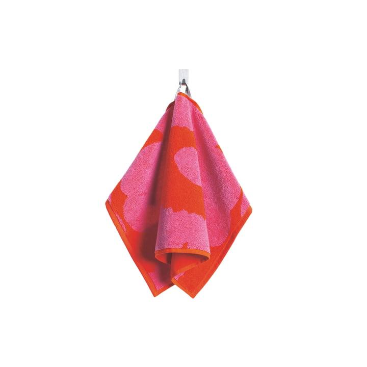 Marimekko – Unikko gæstehåndklæde 30 x 50 cm, rødt