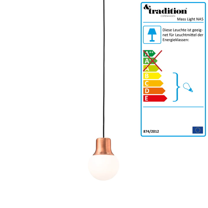 &Tradition – Mass Light NA5 pendel, kobber