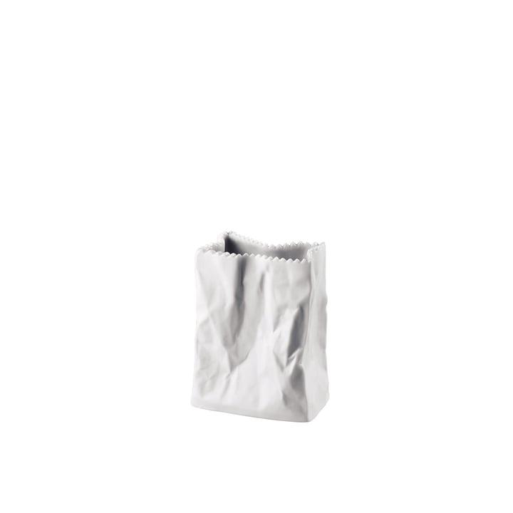 Rosenthal – papirposevase, 10 cm, hvid matpoleret