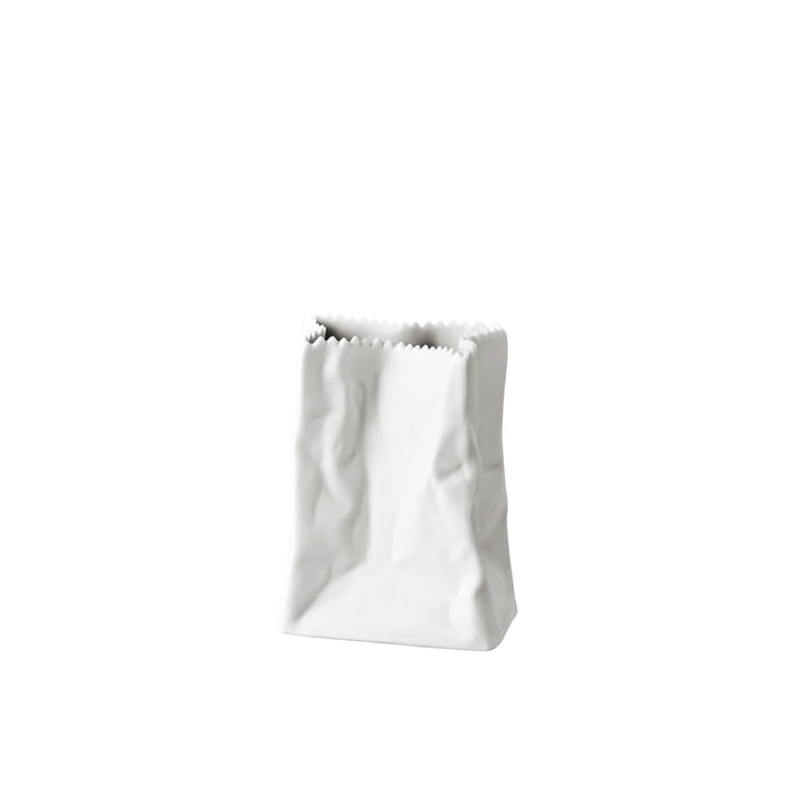 Rosenthal – papirposevase, 14 cm, hvid matpoleret
