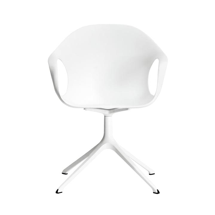 Kristalia – Elephant stol med drejefod i hvid