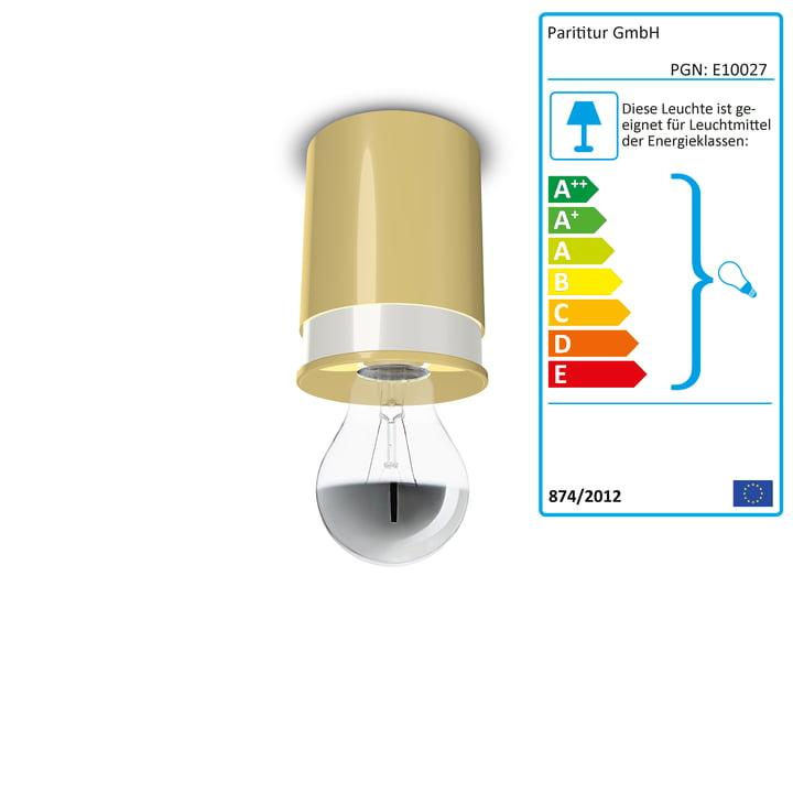 Colours loftslamper fra Twister Lighting i gul