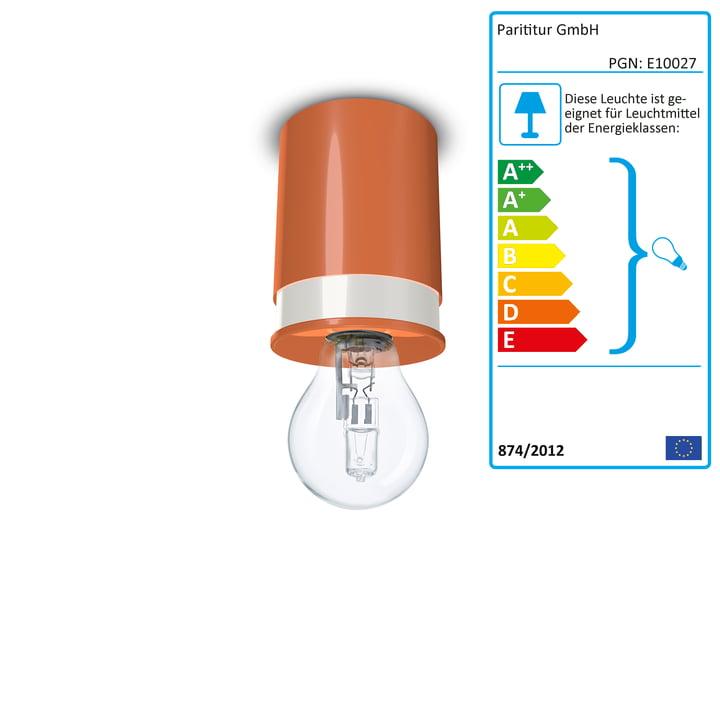 Colours loftslamper fra Twister Lighting i orange