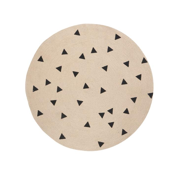 Triangle tæppe i jute, Ø 100 cm fra ferm LIVING
