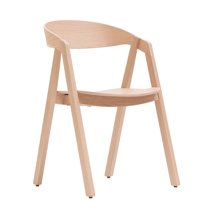 Maigrau – Nardo stol, ubehandlet egetræ, behandlet med klar lak