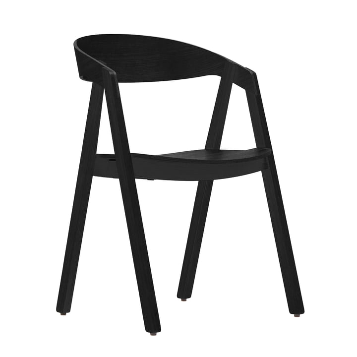 Maigrau – Nardo stol, ubehandlet egetræ, behandlet med sort lak