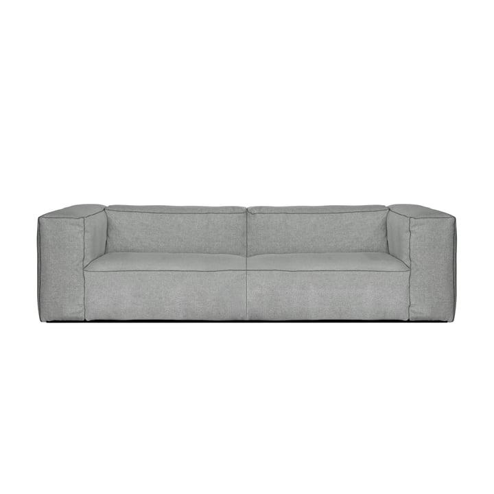 Hay - Mags Soft Sofa 2,5 seter, kombination 1, lysegrå (Hallingdal 130) / sømme: mørkegrå