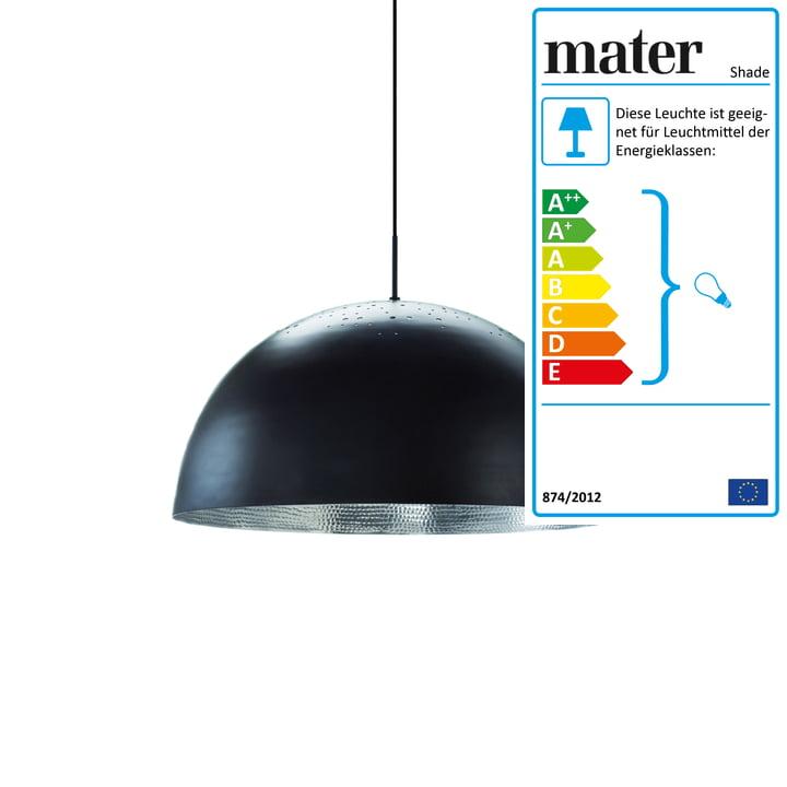 Shade pendel på Ø40 cm fra Mater i sort