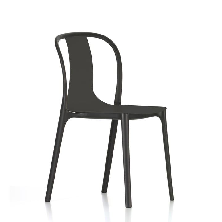 Belleville stol i plastik fra Vitra i dyb sort