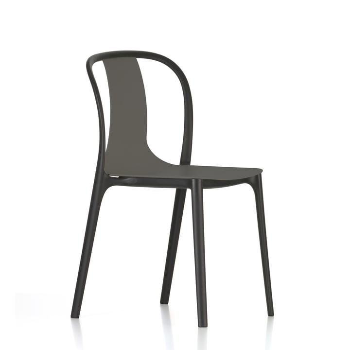 Belleville stol i plastik fra Vitra i basalt