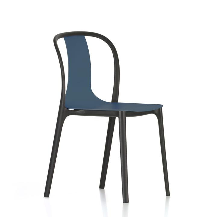 Belleville stol i plastik fra Vitra i havblå