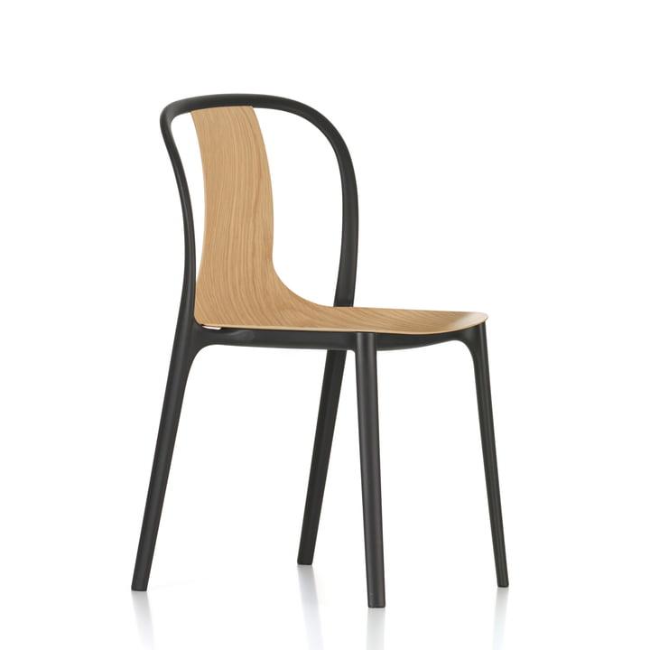 Belleville stol i træ fra Vitra i ubehandlet eg