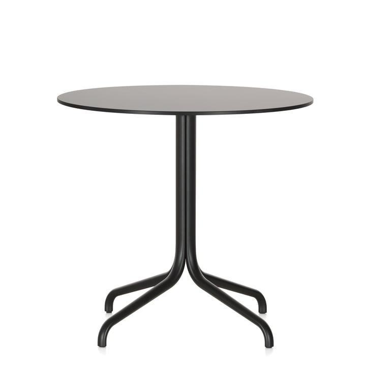 Belleville rundt cafébord, Ø 79,6 cm, fra Vitra i sort