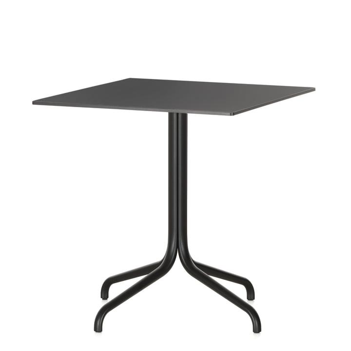 Belleville cafébord, firkantet, 75 x 75 cm fra Vitra i sort