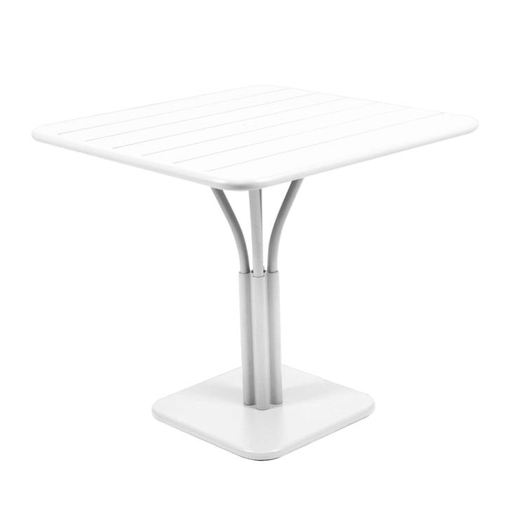 Luxembourg bord på 80 x 80 cm fra Fermob i bomuldshvid