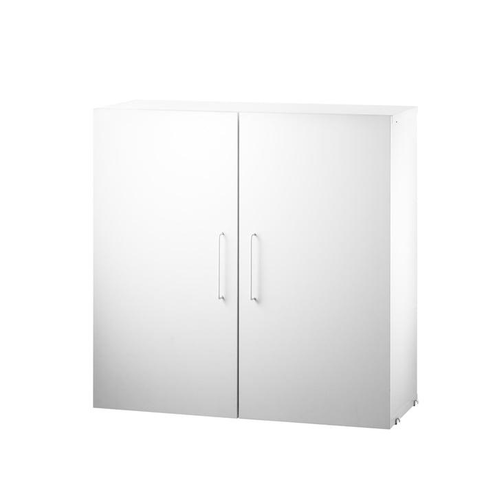Kabinet modul med to hylder i hvid