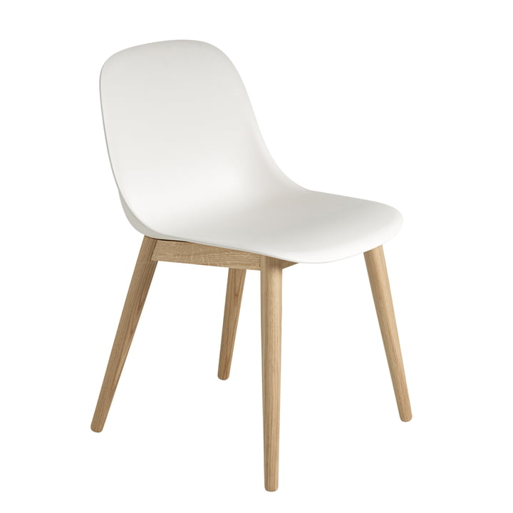 Muuto – Fiber Side Chair Wood Base, eg/hvid