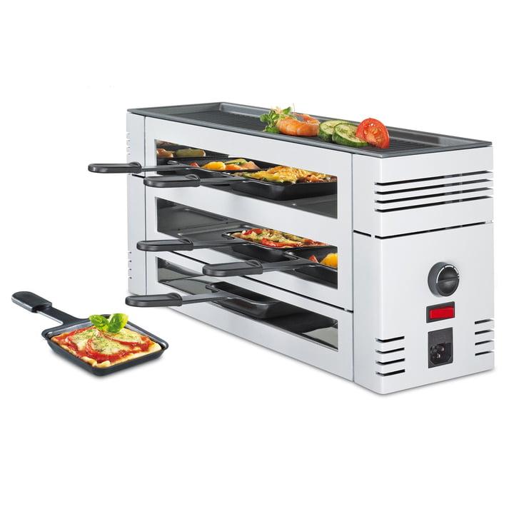 Spring – Pizza raclette 6 med aluminiumsgrill, hvid