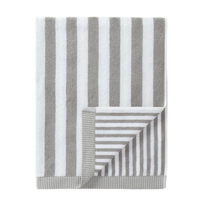 Marimekko - Kaksi Raitaa badehåndklæde 75 x 150 cm, grå / hvid