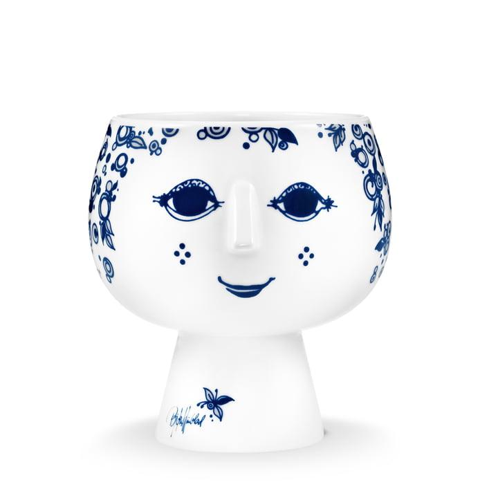 Bjørn Wiinblad – urtepotteskjuleren Juliane, Ø 13,4 cm, blå